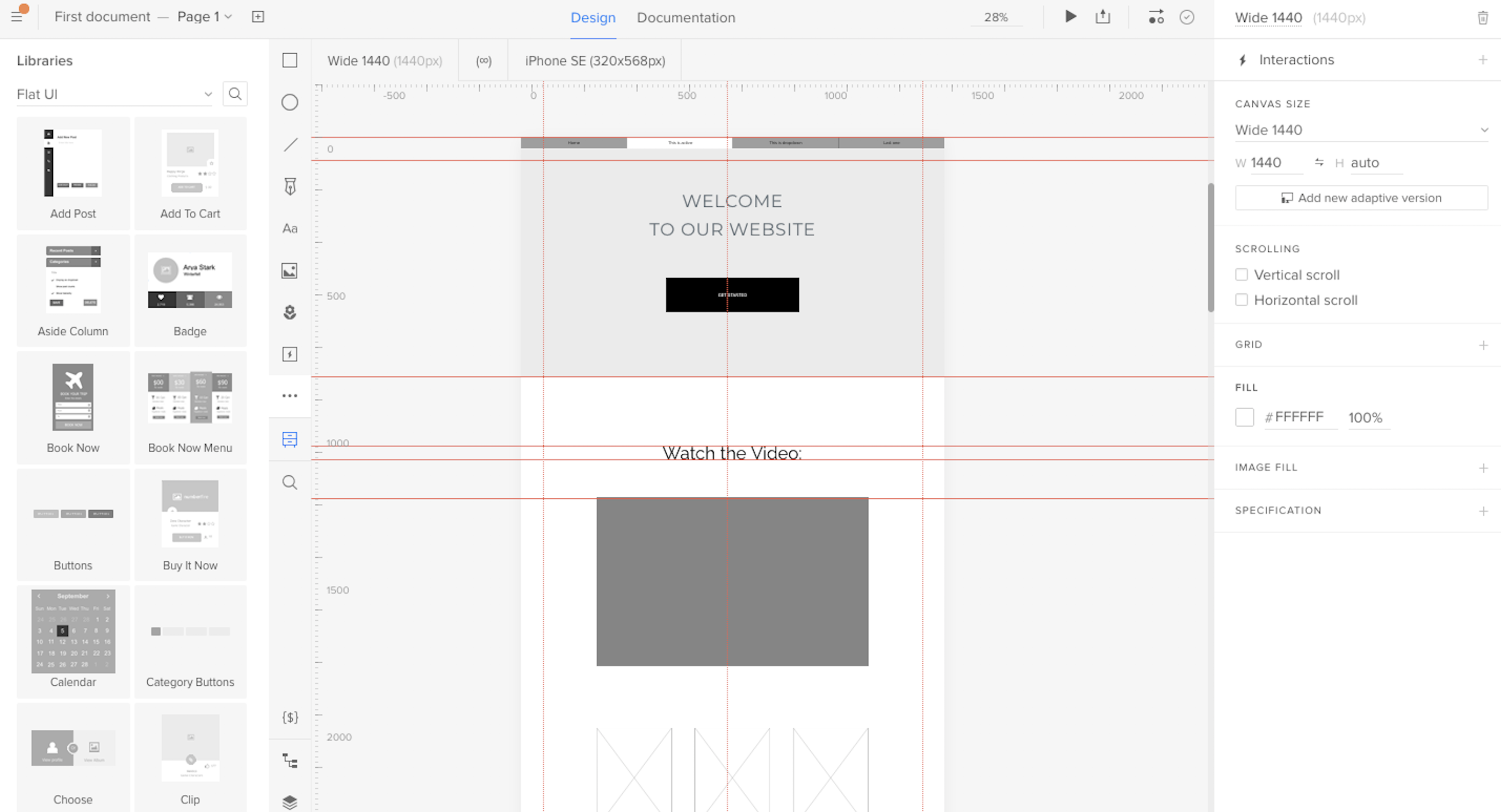 interface wireframe tools